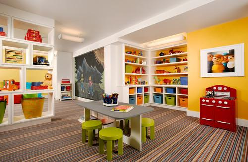 Kids room design in various joyful colors