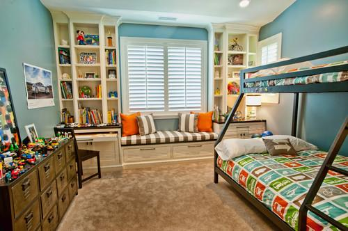 Kids room design with a lot of space for play