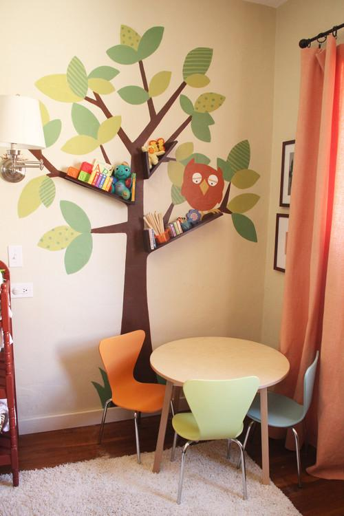 Kids room design with amazing tree art wall decals