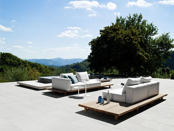 Attractive Luxury Small Sofas Placed Outdoorsu2013 Stylish Modern Furniture By Tribu