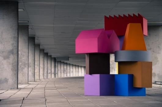 MVRDV for Sixinch - colorful urban installation-at Milan Design Week
