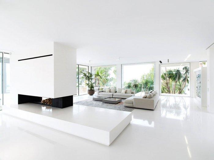 Exotic luxury in the stylish villa chameleon in spain for White minimalist living room