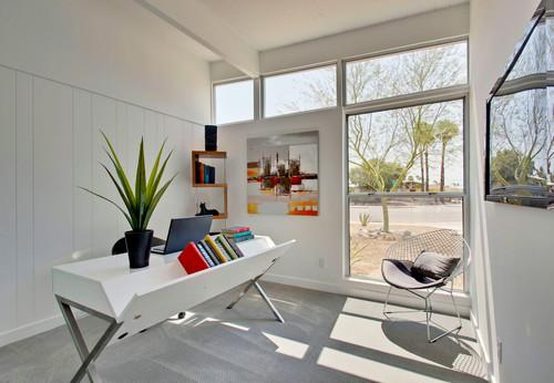 Minimalist home working study- personal office design ideas