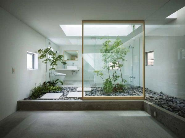 Modern and stylish Japanese bathroom