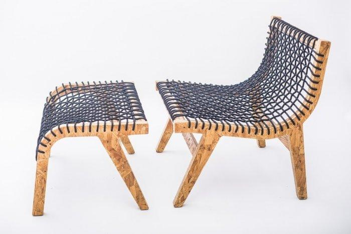 Modern chair with two parts - seating and legs