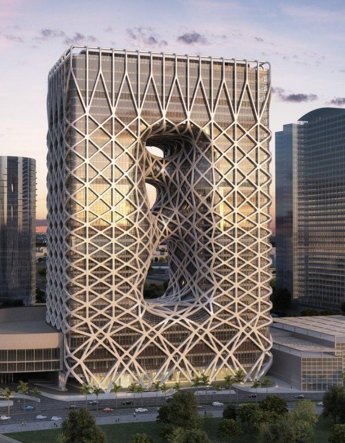 Modern hotel tower in Macau- Creative Modern Architecture by Zaha Hadid