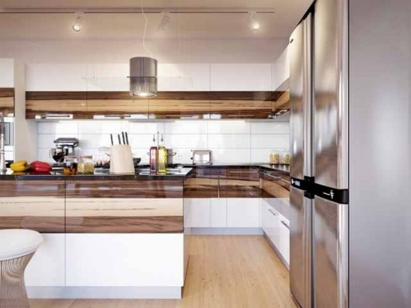 White And Wood In Combination For An Effective Interior