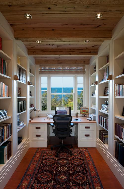 Home Study Design Ideas home office design ideas remodels photos in home study designs Narrow Home Working Study And Lybrary Personal Office Design Ideas
