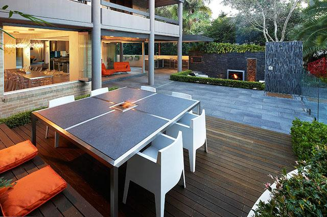 Outdoor dinning table- Living Concepts in a Contemporary Home
