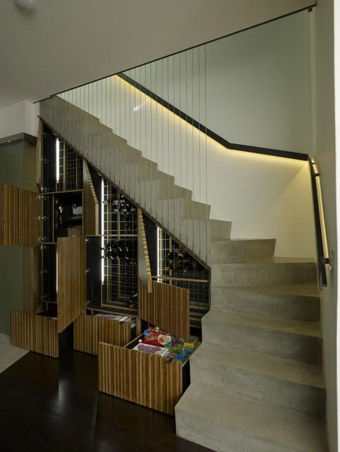 Raw home staircase inside an industrial home