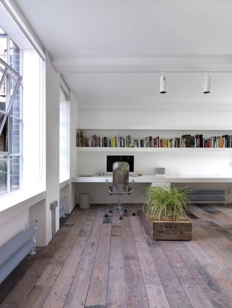 Raw wooden floor-Luxurious minimalist loft interior design