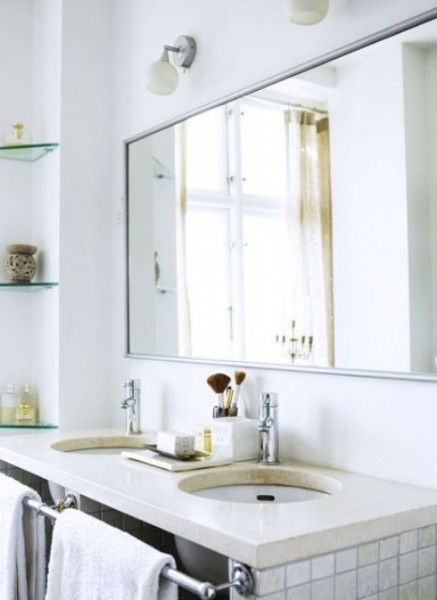 Scandinavian bathroom vanity