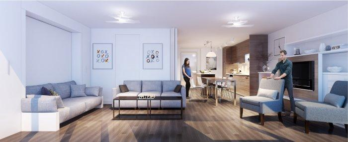 small and stylish modern apartment showing functionality founterior