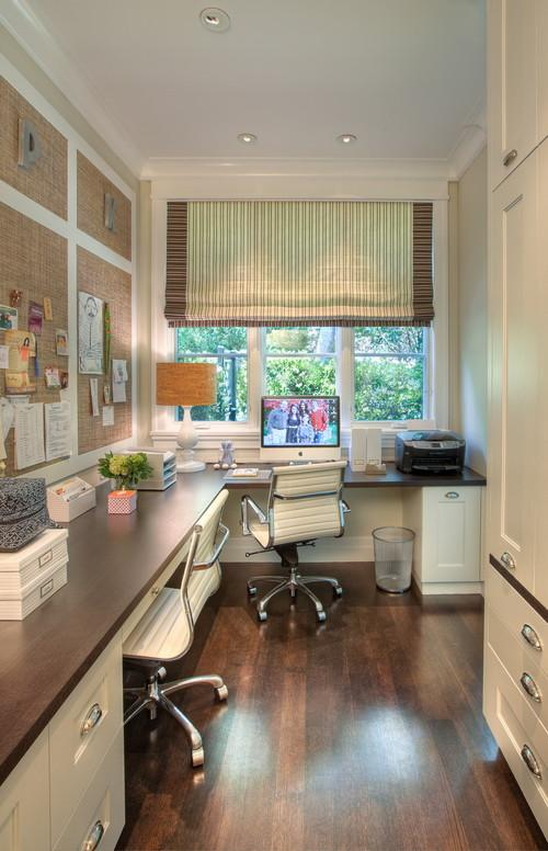 Small home working space with window- personal office design ideas