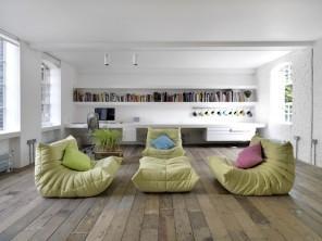 Luxurious minimalist loft interior design