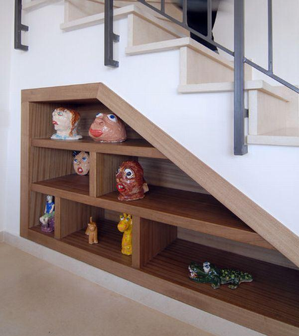 Staircase placed in home with option for storage