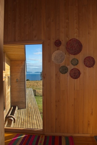 Stylish details decorate the wooden wall-modern architecture residential design
