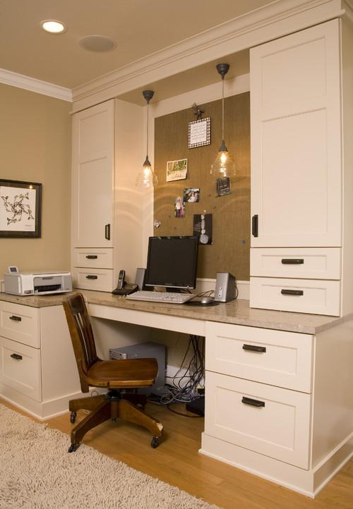 Stylish working home desk in white- personal office design ideas