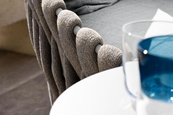 Textile armchair back-rest details– stylish modern furniture by Tribu