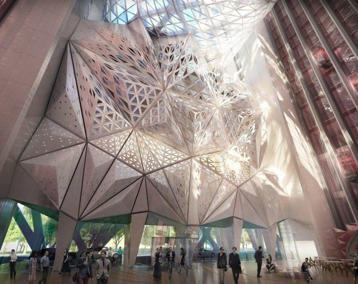 The entry hall- Creative Modern Architecture by Zaha Hadid