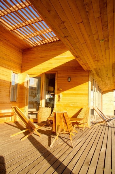 The front porch is perfect for sunny afternoons-modern architecture residential design