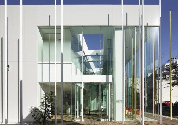 Modern bank architecture sugamo shinkin bank in tokyo for Modern bank building design
