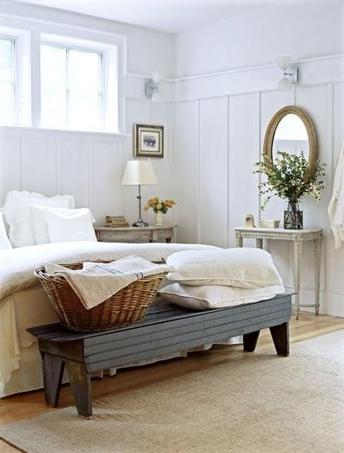 Traditional bedroom with gorgeous giant bed and sunny interior