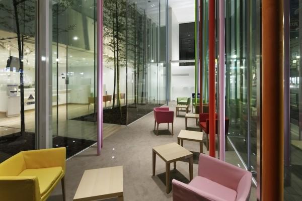 Modern Bank Architecture Sugamo Shinkin Bank In Tokyo