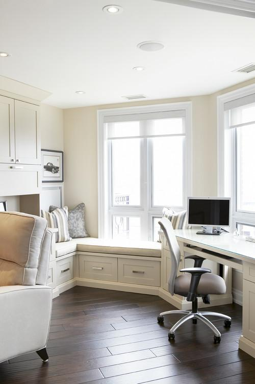 White home desk for work- personal office design ideas