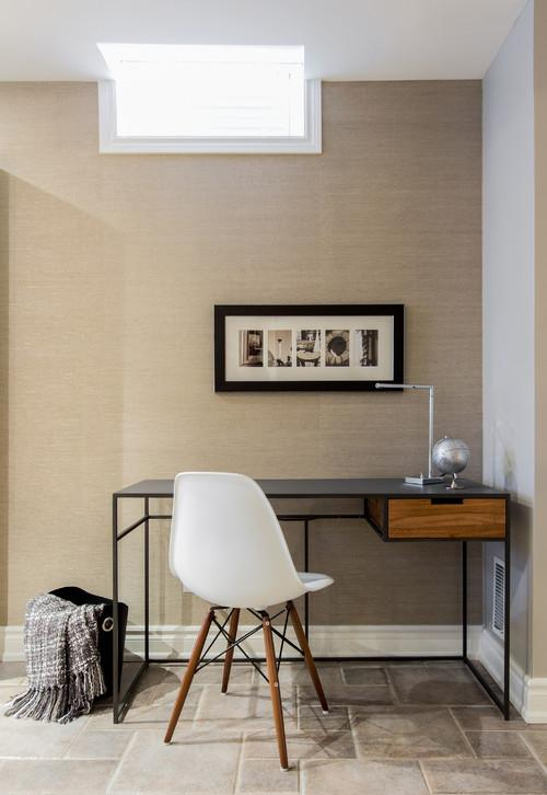 Working desk with designer chair- personal office design ideas