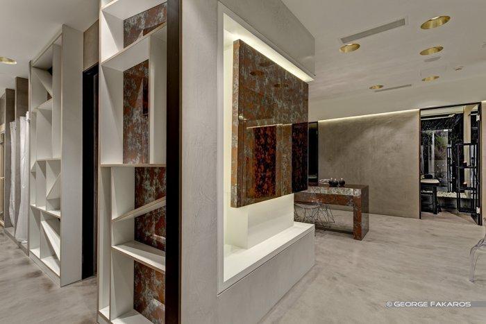 hallway inside minimalist beauty center