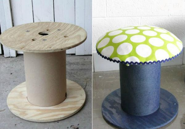 Transforming a stool into a creative furniture – great home DIY ideas