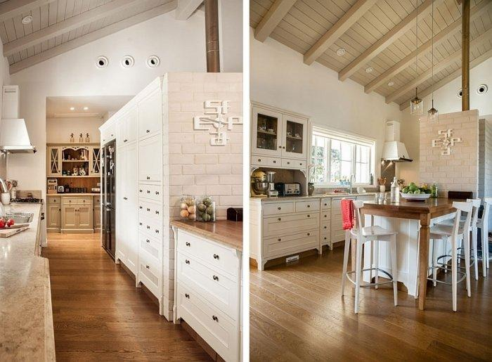 Contemporary kitchen with open plan design and traditional details