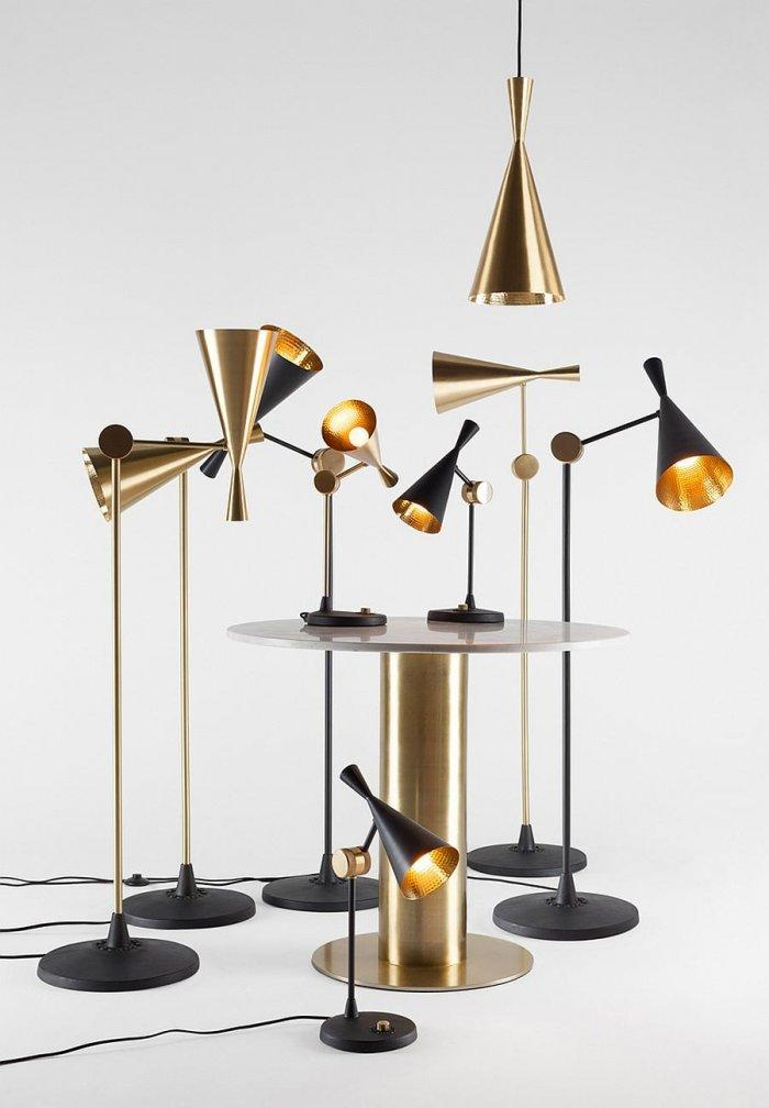 Contemporary lamps in gold for a British Gentleman's Club