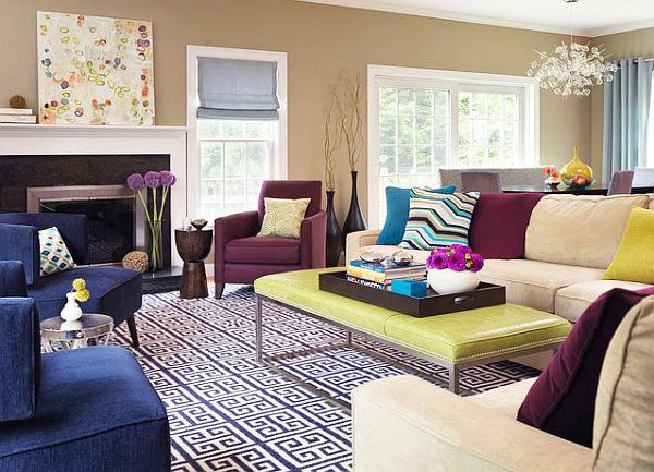 Purple Living Room Ideas Black Brown Designs Modern Walls Yellow