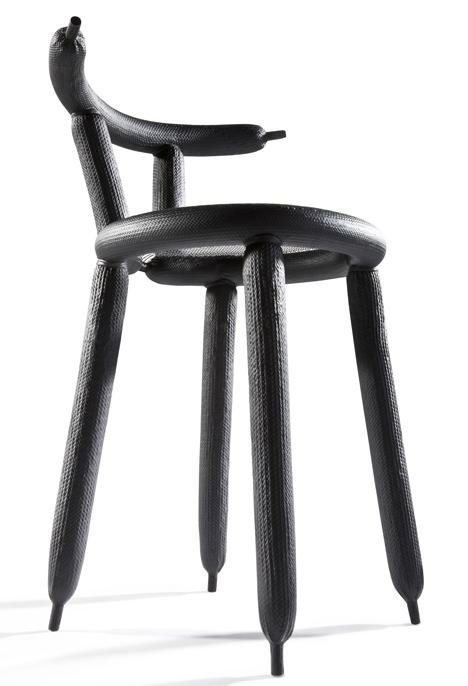 creative chair by dutch designer marcel wanders founterior. Black Bedroom Furniture Sets. Home Design Ideas