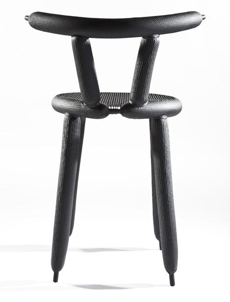 Creative chair with slim back rest and modern design