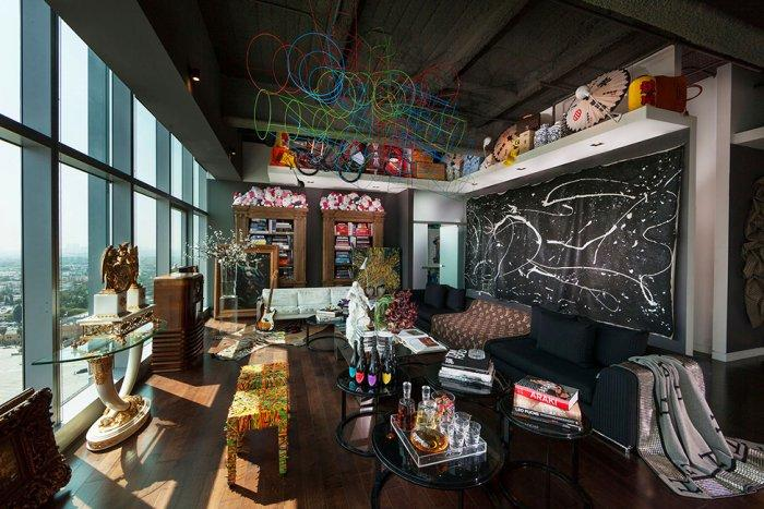 Playful Eclectic Apartment Interior Design In Los Angeles