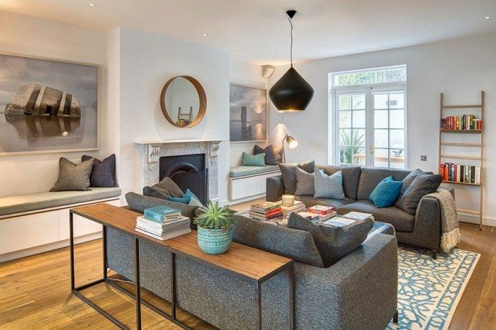 English Home Interior Design with Colorful Accents ... on townhouse interior design, kelly hoppen interior design, amazing home house design, english cottage design,
