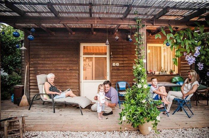 Front veranda with pergola where the family gathers