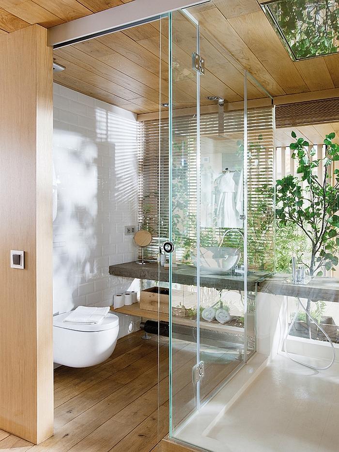 Industrial bathroom with modern design in elegant style