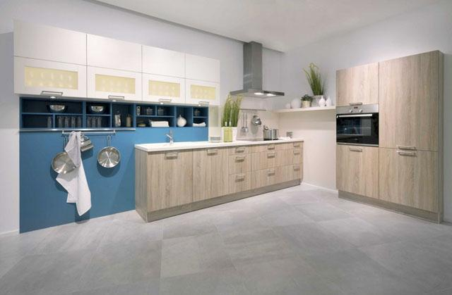 Kitchen design in modern minimalsit style with beautiful white cabinets
