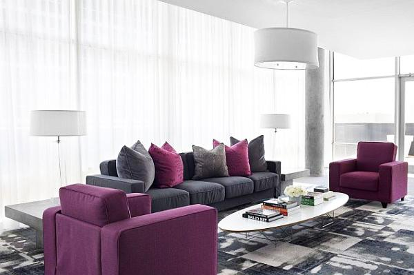 purple accent living room luxurious interior design ideas with royal accents 14483