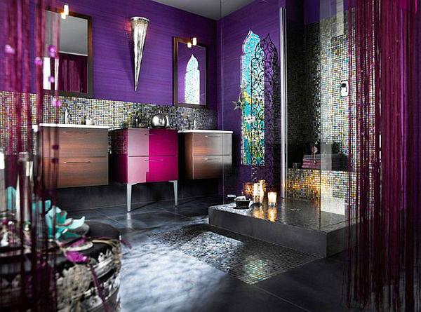 Luxurious Royal Bathroom Desigh With Typical Ornaments And Patterns