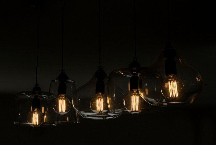 Modern pendants with dimmed light in various shapes