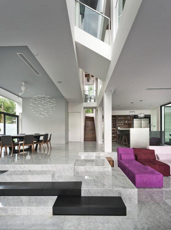 Ultra Modern Living Rooms For Hospitable Homeowners: Ultra Modern Interior In A Posh Residence In Singapore