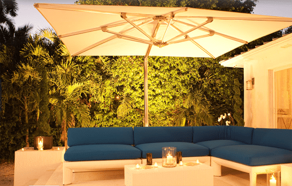 Outdoor canopy gazebo for romantic evenings under the stars