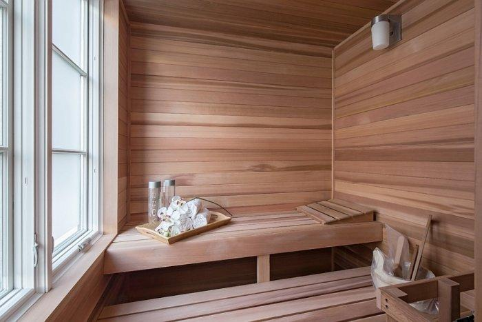 Private penthouse sauna for relaxation during the day or night