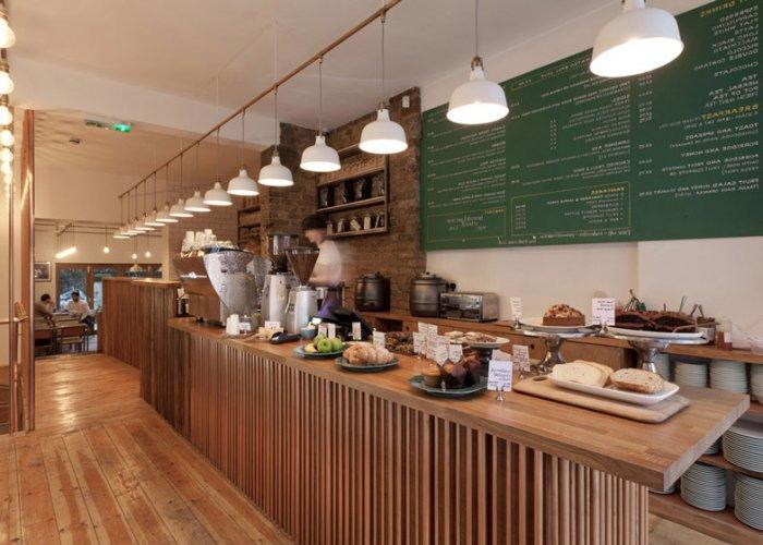 East london cafe interior design by twistinarchitecture for Interior design services london