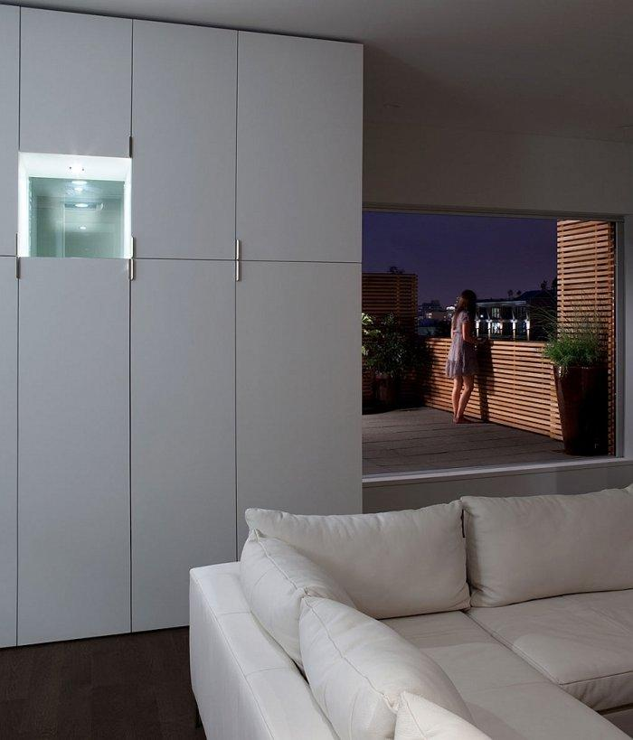 The living room and the terrace are connected for easy access